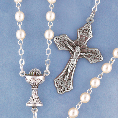 Pearl Bead Rosary - 1505/S Image