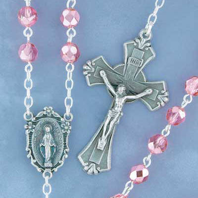 Shimmer Bead Rosary - 9276 Image