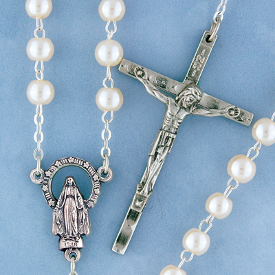Round Pearl Rosary - 1506/S Image