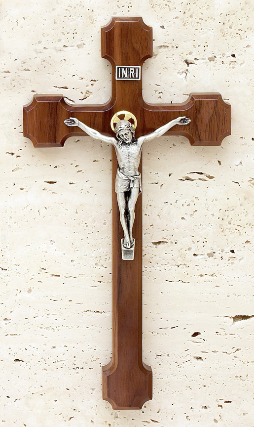 10in. Walnut Crucifix - 17519 Image