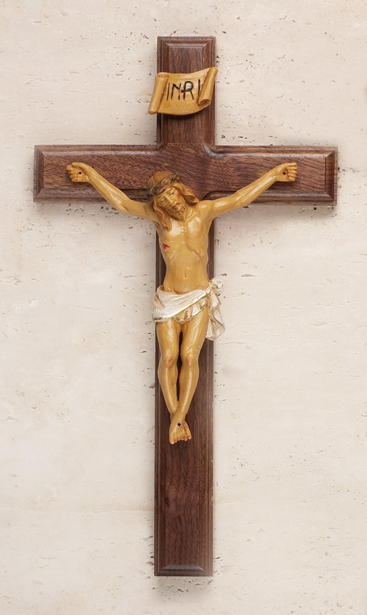 12in. Walnut Crucifix - 17/615 Image