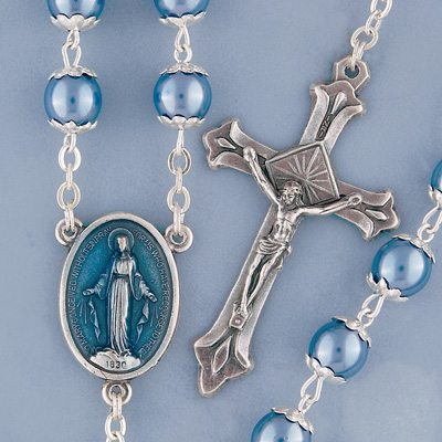 Blue Pearl Rosary - 05835 Image