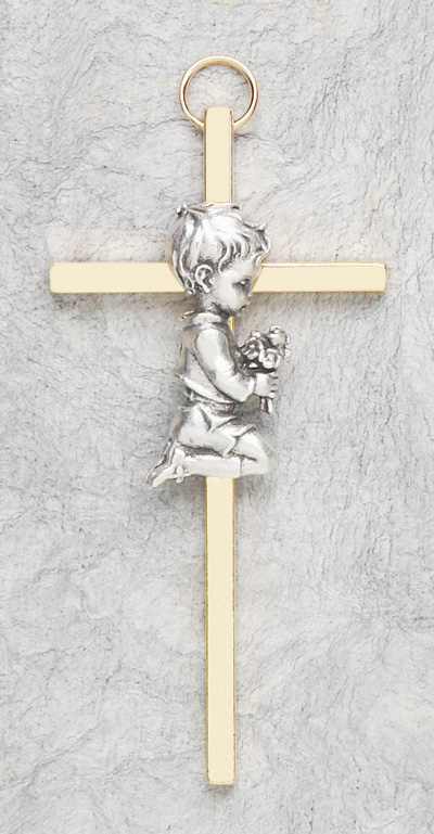 Praying Boy Cross - 14309 Image