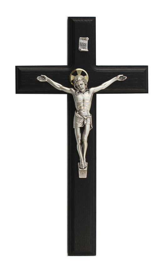 11in. Black Crucifix - 17586 Image