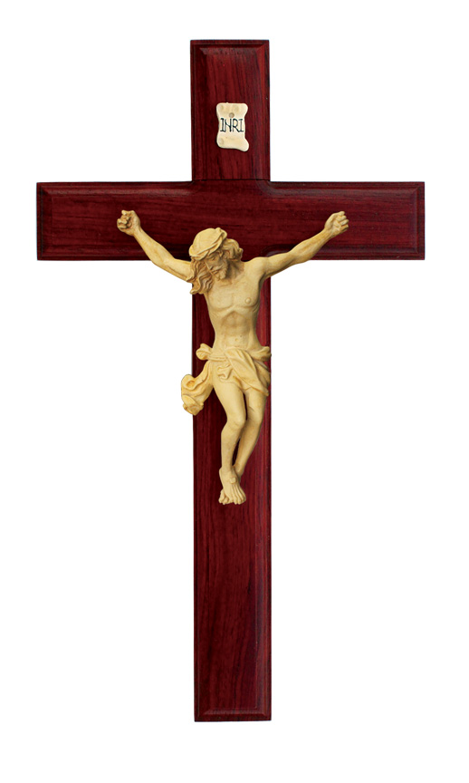 11in. Rosewood Crucifix - 17828 Image