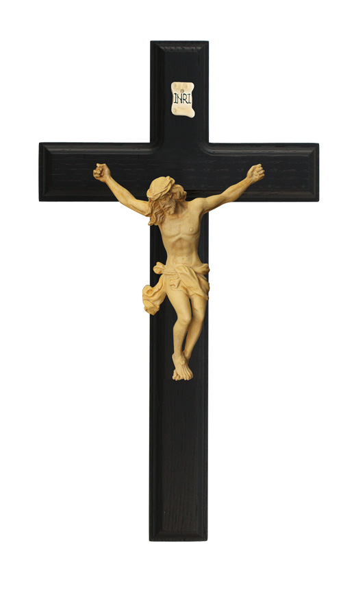 11in. Black Crucifix - 17888 Image