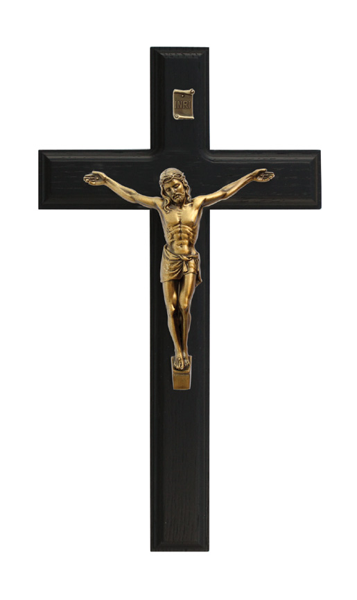 11in. Black Crucifix - 77582 Image