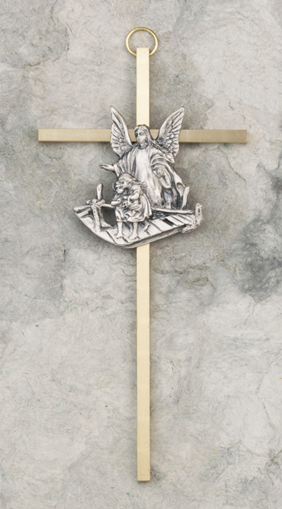6½in. Guardian Angel Cross - 7/7623 Image