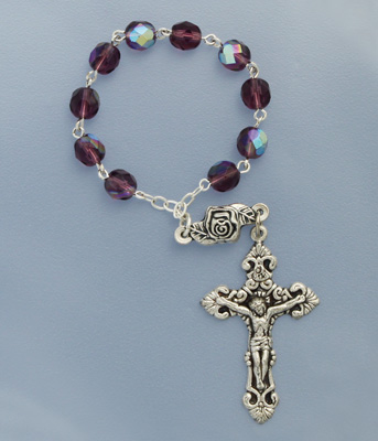 One Decade Amethyst Rosary - 08203/AM Image