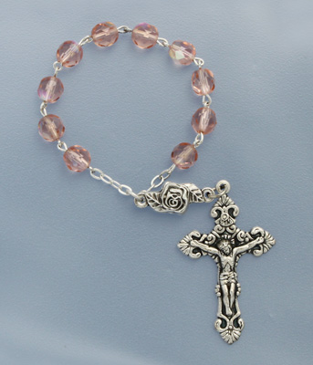 One Decade Pink Rosary - 08203/PK Image