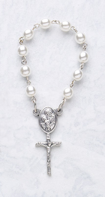 One Decade Pearl Rosary - 122/WH Image