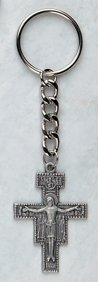 San Damiano Pewter Keychain - 4243/181 Image