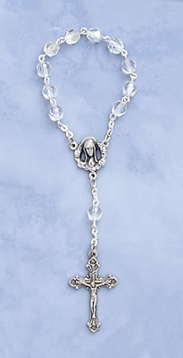 One Decade Crystal Rosary - 733/CR/CP Image