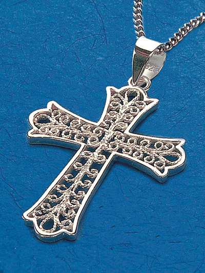 Sterling Silver Cross Pendant - 52235 Image