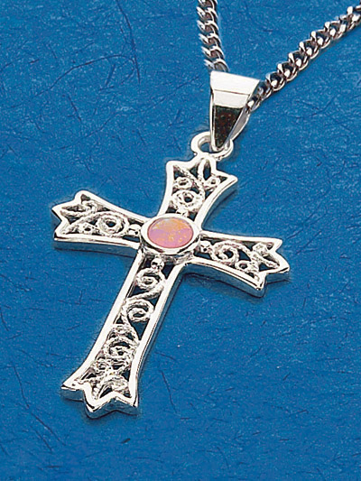 Sterling Silver Cross Pendant - 52266 Image