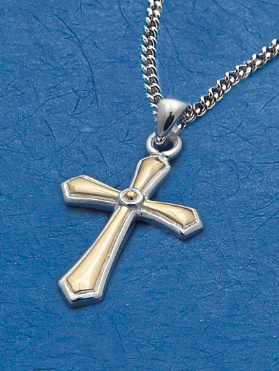 Sterling Silver Cross Pendant - 52893 Image