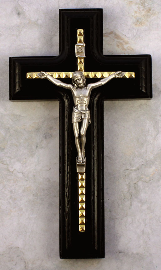 5.5in. Black Crucifix - 17385 Image