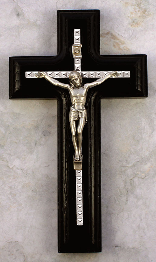 5.5in. Black Crucifix - 17385/S Image