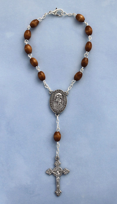Brown Auto Rosary - 20625/BN Image