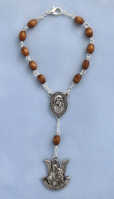 Guardian Angel Auto Rosary - 20738 Image